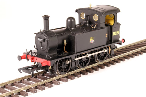 SECR P Class 0-6-0T 31027 in BR black with early emblem