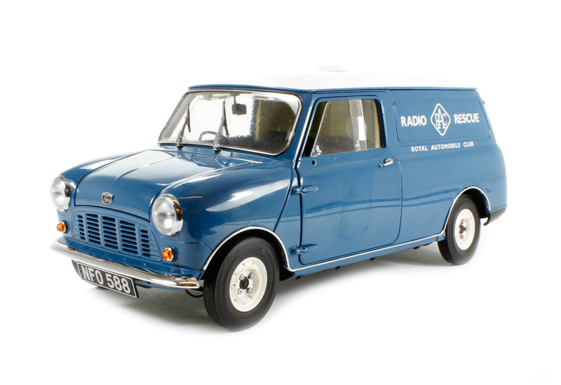 "1960 Morris Minivan in blue ""Radio Rescue"""