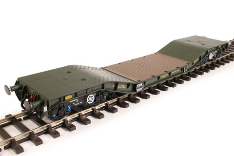 Warwell wagon 50t with Gloucester GPS bogies MODA95537 in MOD 1990s olive