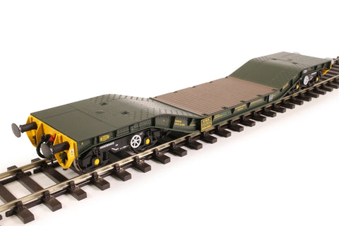 Warwell wagon 50t with Gloucester GPS bogies MODA95536 in MOD 2000s olive