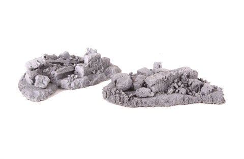Pile of stone walling rubble - pack of two