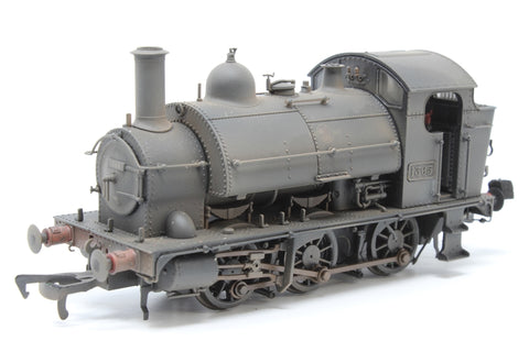 Class 1361 0-6-0ST 1365 in BR black with late crest - heavily weathered - Pre-owned - DCC Fitted - Very good box
