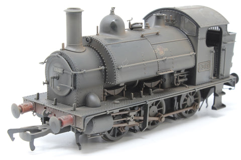 Class 1361 0-6-0ST 1365 in BR black with late crest - heavily weathered - Pre-owned - Like new