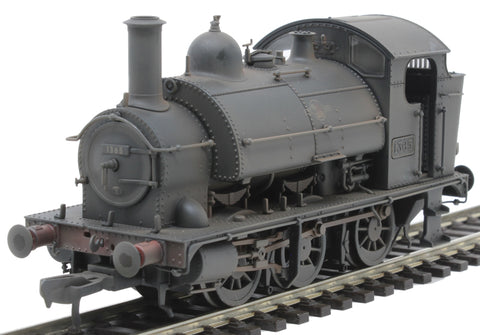 Class 1361 0-6-0ST 1365 in BR black with late crest - heavily weathered