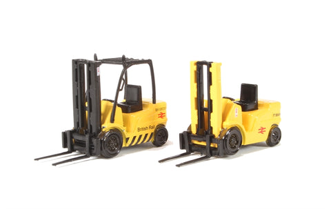 Pack of two Forklift trucks - British Rail