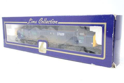 Class 37 37609 in DRS livery - Pre-owned - weathered - poor and noisy runner - missing two buffers - imperfect box