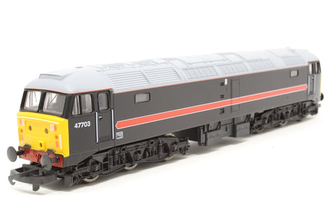 Class 47/7 47703 in Fragonset black livery - Pre-owned - Like new