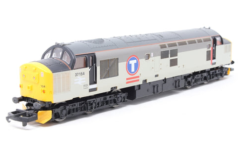 Class 37 diesel 37154 in Transrail 2 tone grey - Pre-owned - replacement box