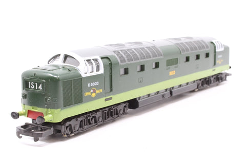 Class 55 Deltic Diesel D9003 'Meld' in BR Green - Pre-owned - intermittent runner - minor marks on body - poor  box