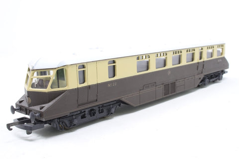 GWR Diesel Railcar No. 22 in Brown & Cream - Pre-owned - minor marks on body