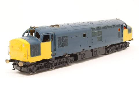 Class 37 37043 Loch Lomond in BR Blue limited edition of 550 - Pre-owned - Converted to P4 Wheel set, numbering & other transfers removed, replacement buffers, & horns, missing glazing, marks on body, missing fan grill, paint damaged, missing couplings
