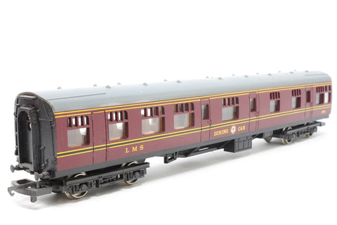 Mk 1 RBR Restaurant Buffet 270 in LMS maroon - Pre-owned - Marks on roof, imperfect box