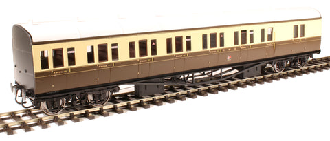 GWR 'B' set brake third in GWR chocolate and cream - unnumbered