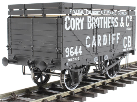 7 Plank open coke wagon with rails