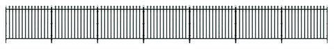 GWR Spear fencing, straight panels, gates & posts