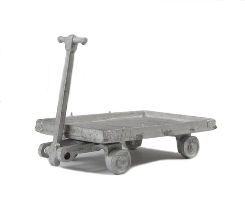 4 Wheel Platform Trolley (cast white metal)