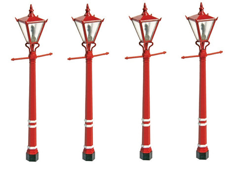 Station platform gas lamps -unpainted - pack of four - plastic kit