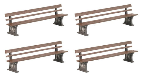 Wooden GWR platform benches - pack of four