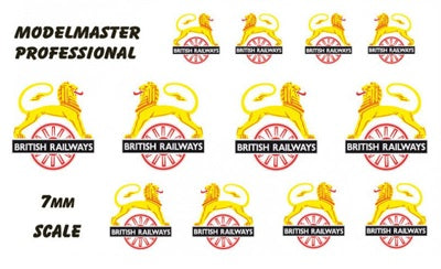 British Railways early emblem transfers - pack of 12 in three sizes