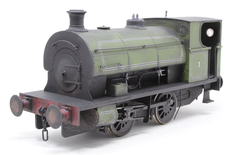 Peckett E Class 0-4-0 in Lined Industrial Green - Pre-owned - DCC supplied but not fitted