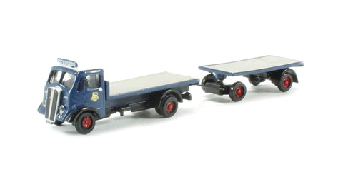 AEC Matador flatbed & drawbar trailer 'Pickfords' (circa 1950-1960)
