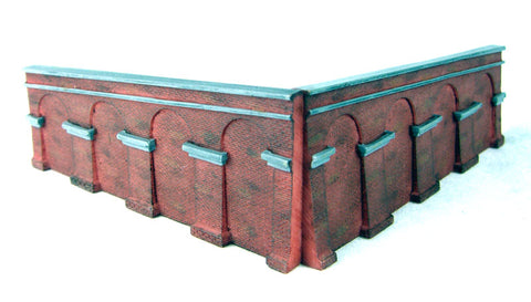 Brick retaining walls - Sloped: Pack 3 (between Levels 3 and 4) - Lyddle End Range