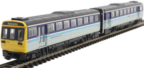 Class 142 'Pacer' 2 car DMU 142081 in Regional Railways livery - DCC fitted