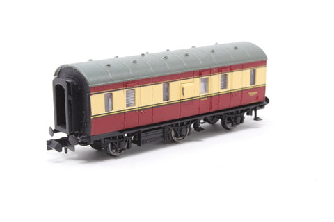 6-Wheel 'Stove R' Full Brake M32988M in BR Crimson & Cream - N Gauge Society Special Edition - Pre-owned - Like new