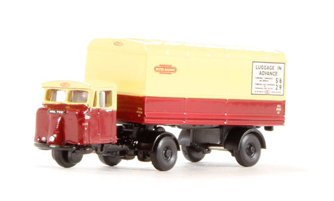 Mechanical Horse in Scammell van trailer in British Rail livery