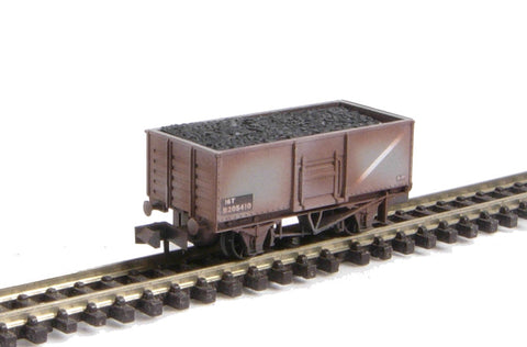 Mineral Wagon Butterley Steel Type in BR Grey (weathered, with removable load)