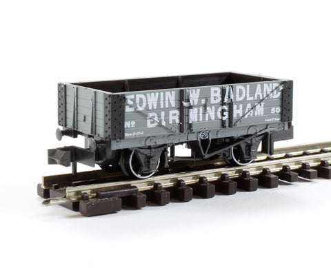 5 Plank Open Wagon 'Edwin W Badland, Birmingham' No.50 in Grey with White Lettering