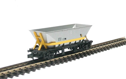 HAA MGR coal hopper in Trainload Coal livery with yellow cradle