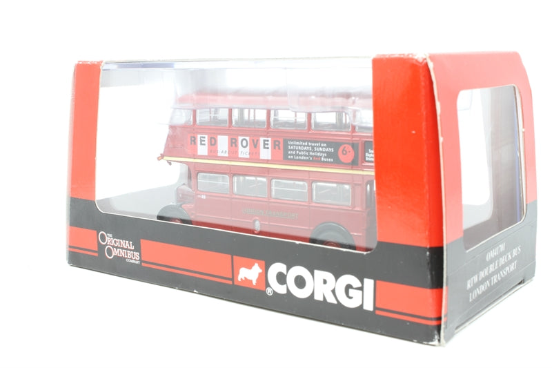 "RTW double deck bus. ""London Transport"" - Pre-owned - Like new - imperfect box"