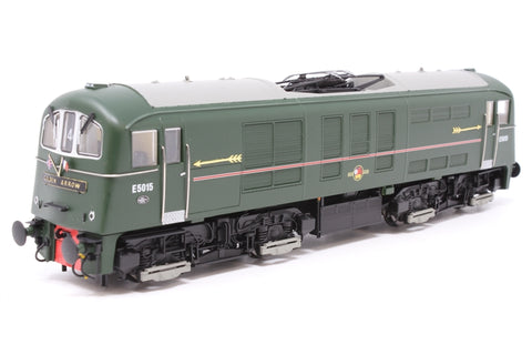 Class 71 E5015 in BR Southern Region light green with full Golden Arrow headboards, arrows and flags pre-fitted - Exclusive to Hatton's - Pre-owned - DCC Fitted - Very Good Box