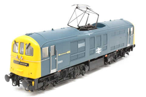 Class 71 E5013 in BR blue with full Golden Arrow headboards, arrows and flags pre-fitted - Exclusive to Hattons - Pre-owned - mark on one side - very good box