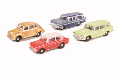 Pack of four assorted 1960s cars for Carflat wagons