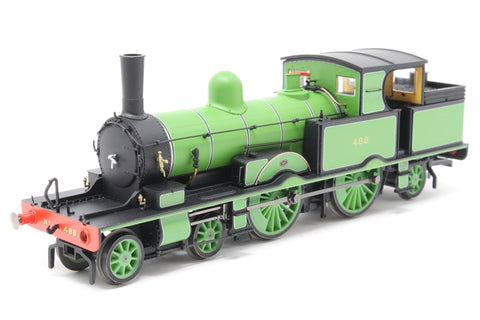 Class 415 Adams Radial 4-4-2T 488 in LSWR green - Pre-owned - missing front buffer