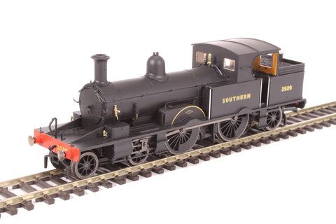 Class 415 Adams Radial 4-4-2T 3520 in Southern Railway black with sunshine lettering - DCC Sound fitted