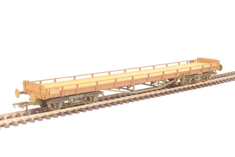 60ft Carflat car carrier B745893 in BR bauxite - weathered