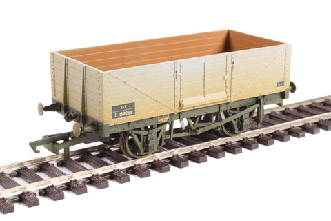 6 plank mineral wagon in BR grey - weathered