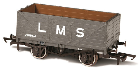 7 plank open wagon 216954 in LMS grey