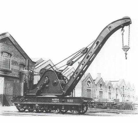 Cowans Sheldon 15 ton crane 243 in LMS black