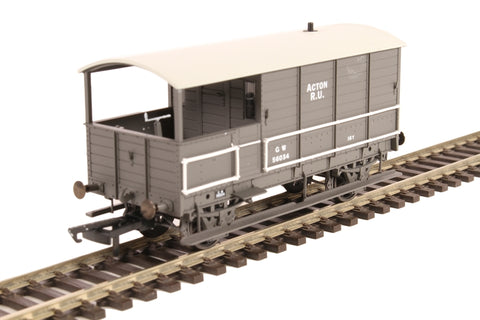 4-wheel 'Toad' brake van 56034 in GWR livery with plated sides -