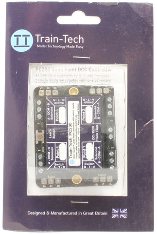 DCC Point Controller Quad with Route Store/Switching