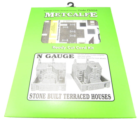 Terraced houses - stone - card kit