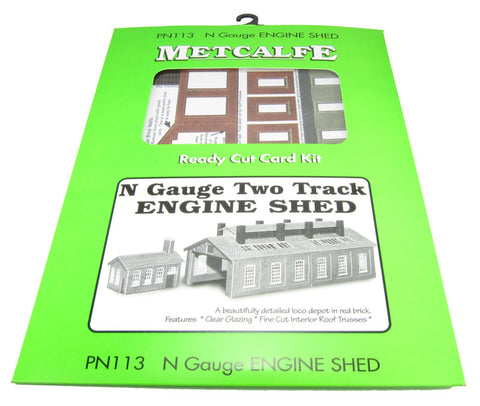 Brick-built two track engine shed - card kit