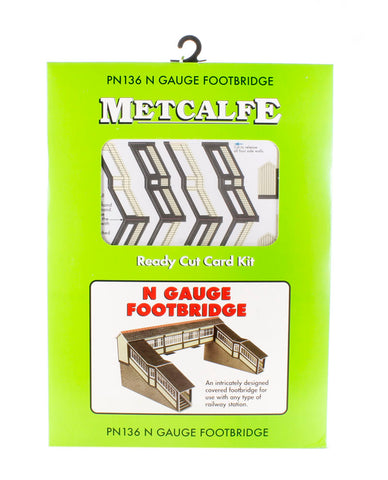 Double-track covered station footbridge - card kit