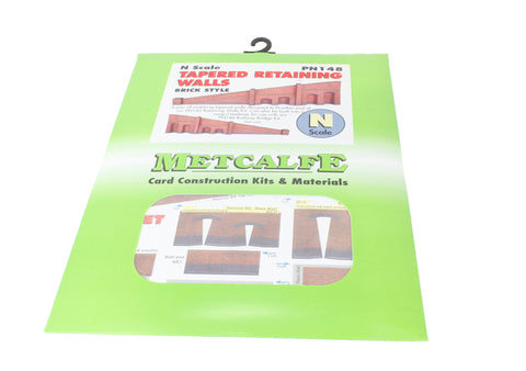 Tapered retaining wall - red brick - card kit