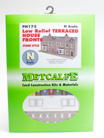 Low relief terrace house fronts - stone - card kit