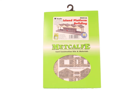 Island platform building with canopy - card kit